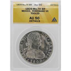 1809-Mo Mexico Ferdinand VII 8 Reales Coin ANACS AU50 Details