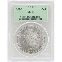 1883 $1 Morgan Silver Dollar Coin PCGS MS64