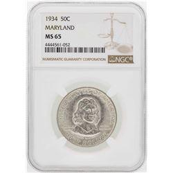 1934 Maryland Tercentenary Commemorative Half Dollar Coin NGC MS65