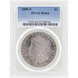 1889-S $1 Morgan Silver Dollar Coin PCGS MS64