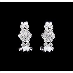 18KT White Gold 0.58 ctw. Diamond Omega Back Earrings