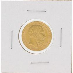 1877 Belgium 20 Francs Gold Coin