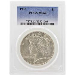 1935 $1 Peace Silver Dollar PCGS MS62
