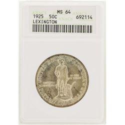 1925 Half Dollar Lexington-Concord Sesquicentennial Commemorative Coin ANACS MS6
