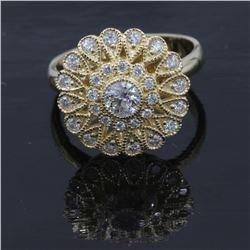 14KT Yellow Gold 0.73 ctw Elegant Fashion Diamond Ring