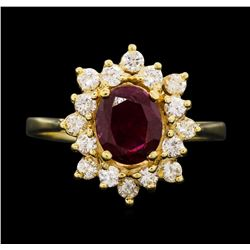 14KT Yellow Gold 1.30 ctw Ruby and Diamond Ring