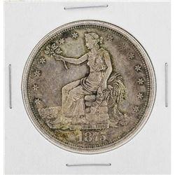 1875-CC $1 Seated Liberty Silver Trade Dollar Coin