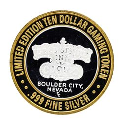 .999 Silver Gold Strike Inn Boulder City, Nevada $10 Limited Edition Casino Gami