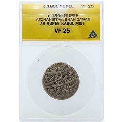 c.1800 Afghanistan Rupee Shah Zaman Coin ANACS VF25