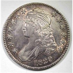 1829 CAPPED BUST HALF DOLLAR AU+