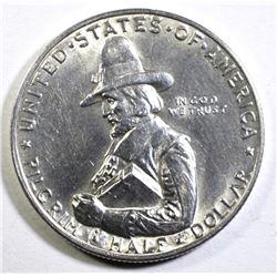 1920 PILGRIM COMMEMORATIVE HALF DOLLAR, CH BU