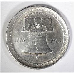 1926 SESQUICENTENNIAL COMMEMORATIVE HALF DOLLAR AU