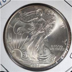 1996 AMERICAN SILVER EAGLE  GEM BU