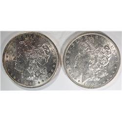 1897 & 1890 CH BU MORGAN DOLLARS