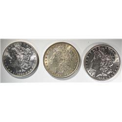 1885, 1896 & 1883-O CH BU MORGAN DOLLARS
