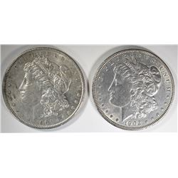 1902 AU/UNC & 1904 BU MORGAN DOLLARS