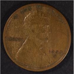 1909-S-VDB LINCOLN CENT  VF