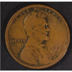 1909-S LINCOLN CENT  VG