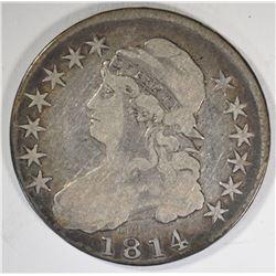 1814 CAPPED BUST HALF DOLLAR  VG+