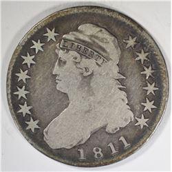 1811  CAPPED BUST HALF DOLLAR  VG