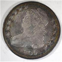 1809 CAPPED BUST HALF DOLLAR  VG/F