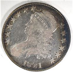 1821 CAPPED BUST HALF DOLLAR  VG/F