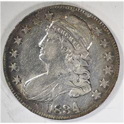 1834 CAPPED BUST HALF DOLLAR  XF/AU