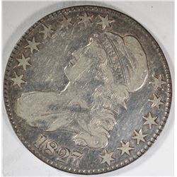 1827 CAPPED BUST HALF DOLLAR  VF/XF