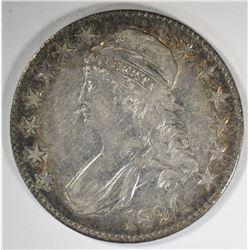 1824 CAPPED BUST HALF DOLLAR  XF/AU