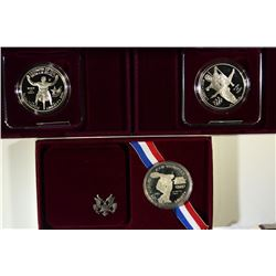(3) Olympic Silver Commemorative Sets