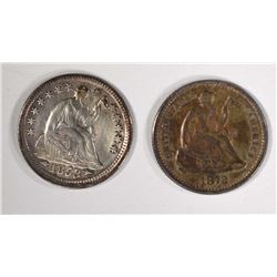 1853 ARROWS HALF DIME -AU & 1872 HALF DIME -XF+
