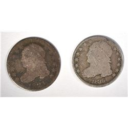 1821 AG & 1835 GOOD CAPPED BUST DIMES