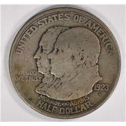 1923-S MONROE HALF DOLLAR COMMEM XF