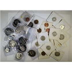 BAG LOT:  TONS OF COINS , SILVER SEMI-KEY COINS, E