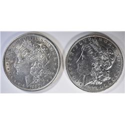 1879 & 1884 AU MORGAN DOLLARS