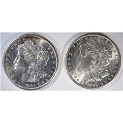 1881-S & 99-O CH BU MORGAN DOLLARS