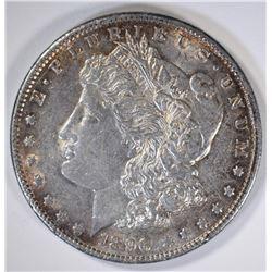 1896 MORGAN DOLLAR, CH BU PRETTY TONING