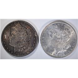 1879 & 1884-O CH BU+ MORGAN DOLLARS
