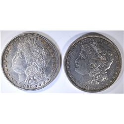 2 - 1880 MORGAN DOLLARS AU