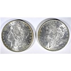 1883-O & 1885-O MORGAN DOLLARS BU