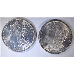 1886 & 1888 MORGAN DOLLARS CHOICE BU
