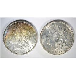 1887 & 1921 CH BU MORGAN DOLLARS