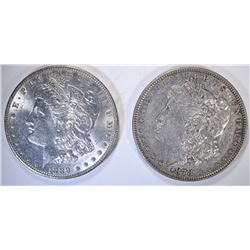 1889 BU & 1878 7TF AU MORGAN DOLLARS