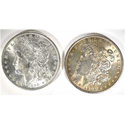 1890 & 1900 MORGAN DOLLARS BU