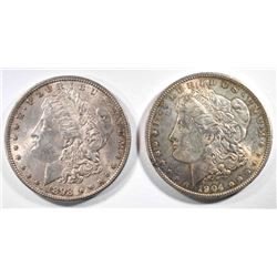 1898 & 1904-O MORGAN SILVER DOLLARS CHOICE BU