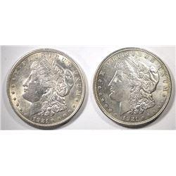 2-1921 CH BU MORGAN DOLLARS