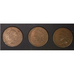 AG INDIAN CENTS: 1870 rim issues & 2-1873