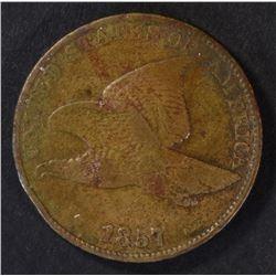 1857 FLYING EAGLE CENT, VF+