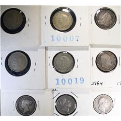 BRITISH SIX PENCE COINS