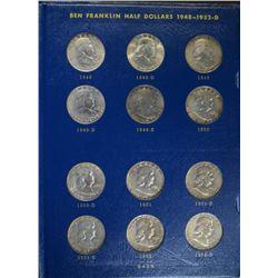 COMPLETE 1948-1963 FRANKLIN HALF DOLLAR SET: